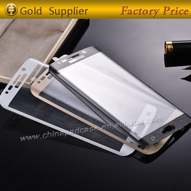 2016 New model!!!For Samsung Galaxy S7 edge Curved Full Cover Tempered Glass screen protector OEM/ODM