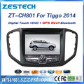 ZESTECH wholesale double din touch sreen gps oem car dvd player for Chery TIGGO 5 2014
