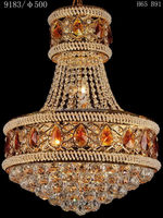 Popular antique yellow solar crystal hanging lamp