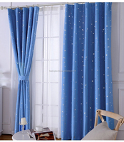 star purplish blue curtain fabric simple fabric for curtain gold stamp blackout curtain