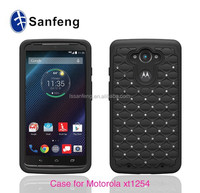 2015 Two Pieces Combo Hybrid Rugged Hard Cover Case for Moto Droid Turbo