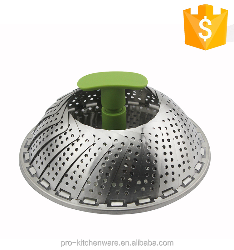 Hot Sale 100% FDA & LFGB chinese fruit steamer large commercial collapsible vegetable steamer stainless steel food steamer