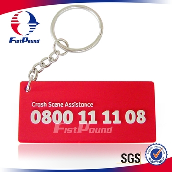 Custome PVC Crash Scene Assistance keychain