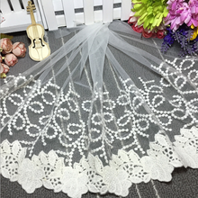 35CM Width 2017 New Design Cotton Lace for Wedding Dress