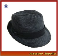 AL800/ Summer Short Brim Panama Straw Fedora Hat/wholesale straw hats for sale/ paper straw hat