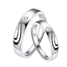 Tryme Jewelry 925 <strong>silver</strong> with rhodium plated original design half heart wedding rings with diamond