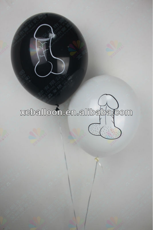 Cheapest new style inflate latex penis balloon