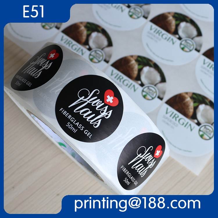 Custom Printed Synthetic Paper Self Adhesive Body Lotion Bottle Label, Roll Self-Adhesive Sticker