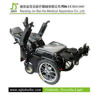 Power standing reclining wheelchair with TPU anti bedsore cushion