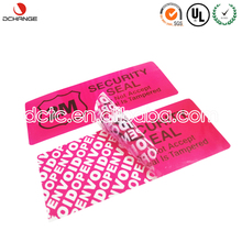 DCTC OEM custom paper high quality security label paper with UL certificate