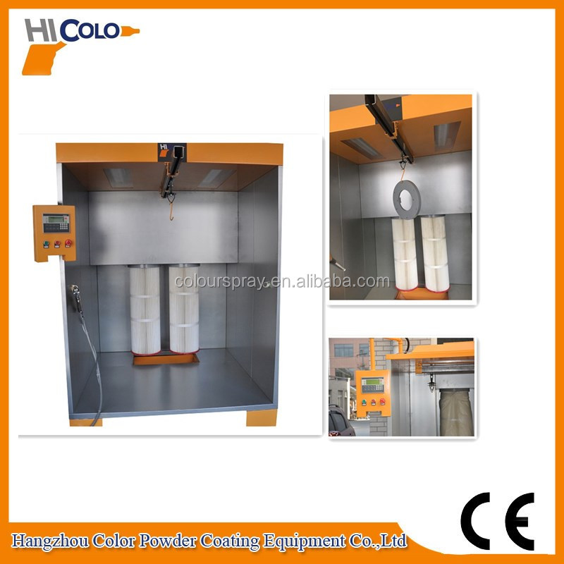Manual Powder Painting Spray Cabinet with 2 Filters