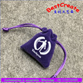 Mini velvet ring wrap pouches drawstring jewelry packing