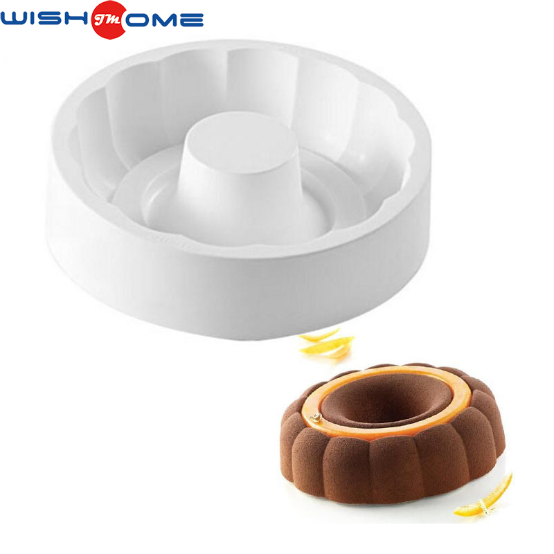 JianMei Brand factory production FDA mousse round homemade chocolate baking silicone cake Mold