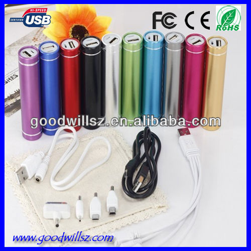 Cheap price column portable charger/portable power bank 2200mAh