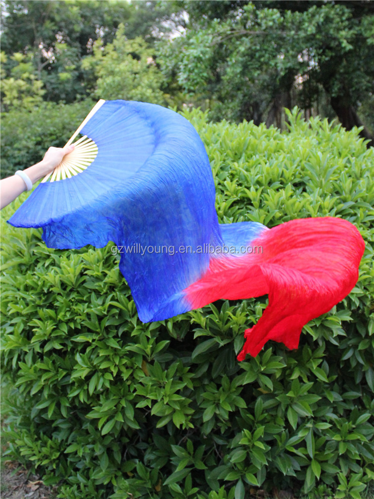 Hot Selling Silk Fans Belly Dance Fan Veils, Belly Dance Chinese Silk Veils, Size 180CM long