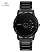 Nice Black Watches For Men Top Brand 304 Stainless Steel Fashion For Big Wrists