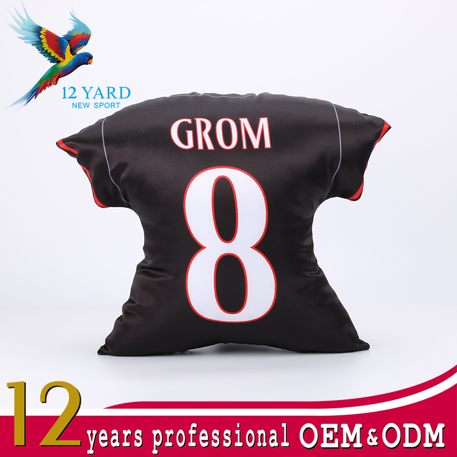 Customize National polyester peach skin pillow case, sport disposable pillow shaped T-shirt case