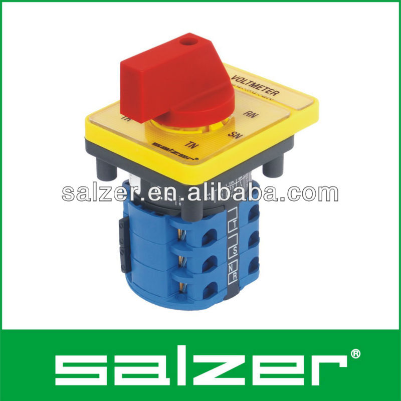 Salzer AC Voltmeter Selector Switch 7 Position 16A (TUV, CE and CB Approved)