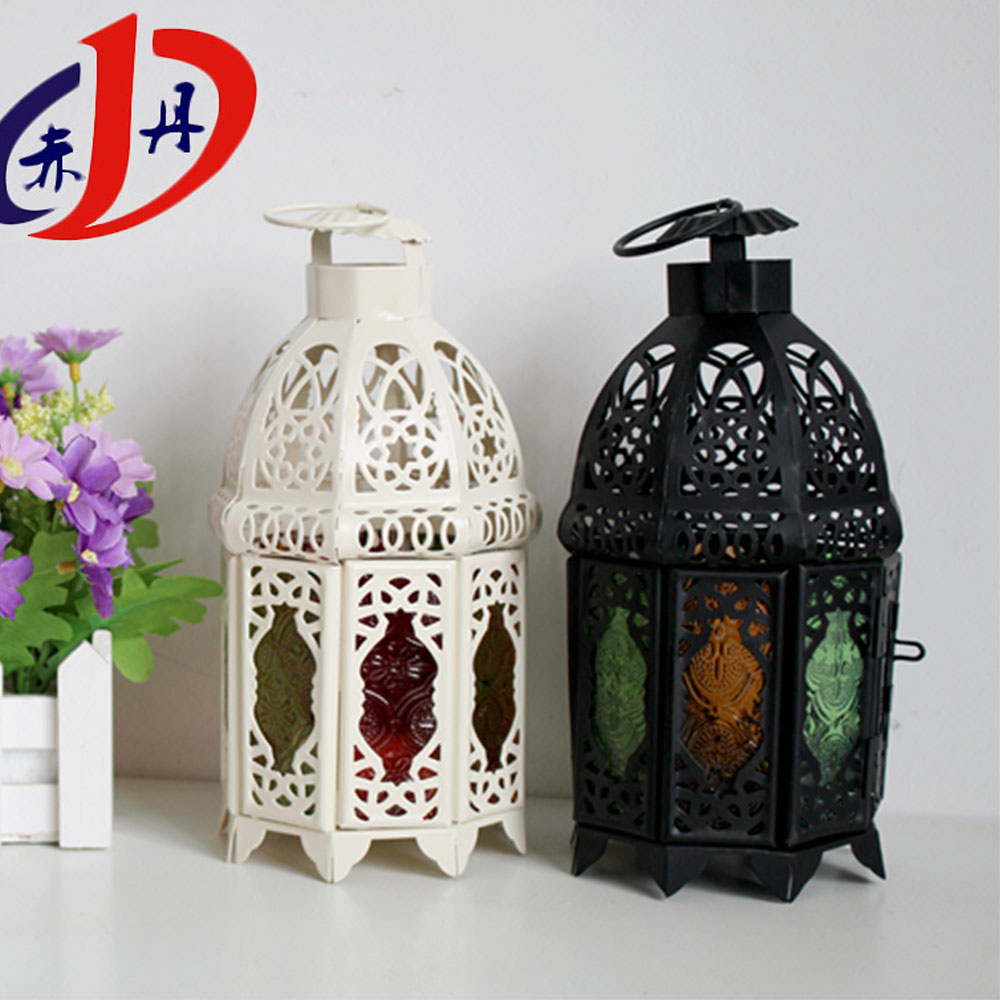 New popular style new christmas lights glass moroccan lantern