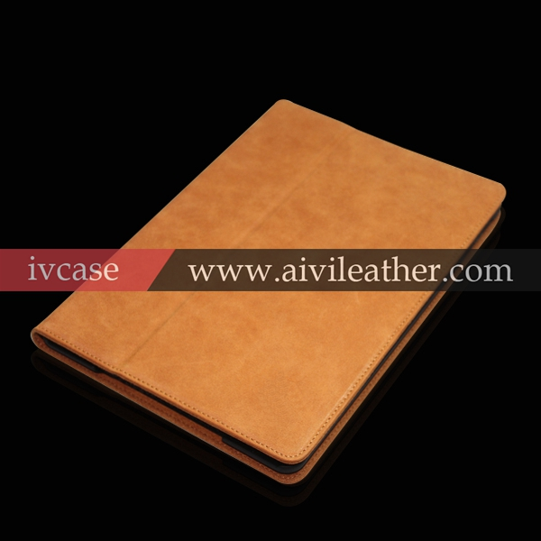 Distressed real leather case for Apple iPad mini
