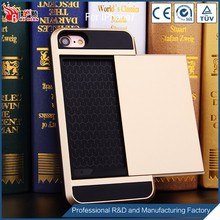 Attractive appearance card insert hybrid casing for iphone7,china carbon fiber phone case for iphone 7
