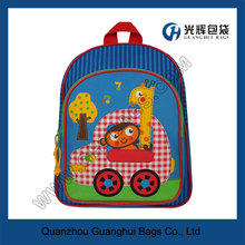 Blue Funny Animal Zoo Toddler Backpacks