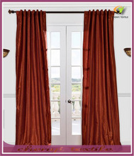 100% Polyester Faux Silk Curtain With Gromment