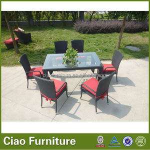 4304 Outdoor dinning tables and chairs for restaurant 6 seat