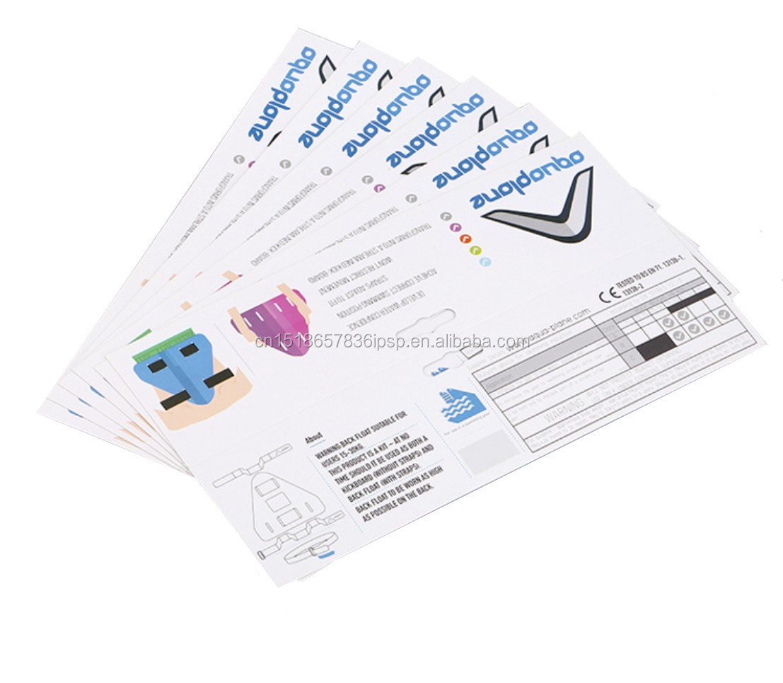 white cardboard with horizonal hanger cheap header card printing