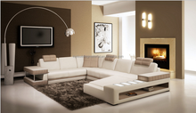 Italian style storage sofa leather lounge suite