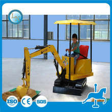 Amusement park Indoor/outdoor kids mini sand excavator 12v electric ride on toys excavator