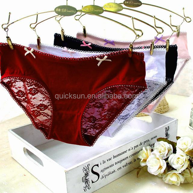 Hot selling sexy lace woman panties slips