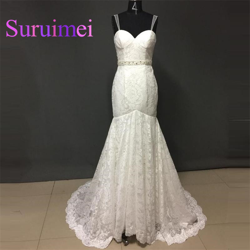 Free Shipping Wedding Dresses Mermaid Gowns with Beaded Sext Wedding Party Dress New Arrivals