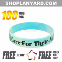 free sample cheap custom bracelet silicone rubber