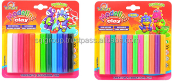 Clay-Neon 12 colors 200g-Blister Card