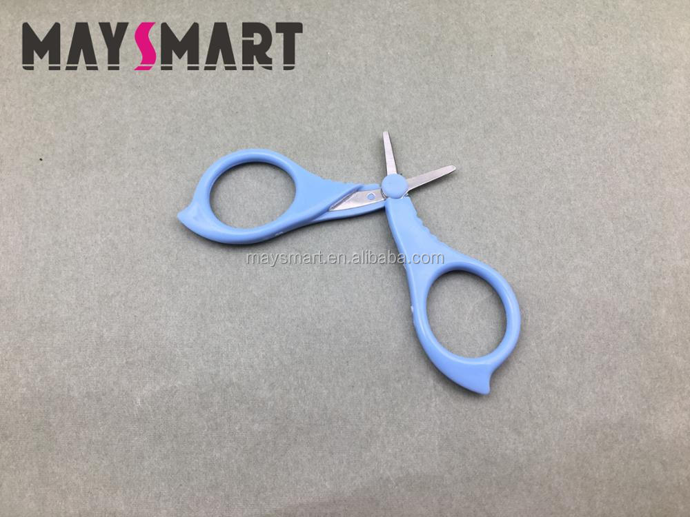 High Quality Plastic Handle Safety Care Baby Nail Scissors