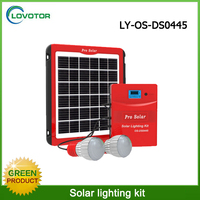 5W solar panel 6v solar led lights kit for home lighting and charging