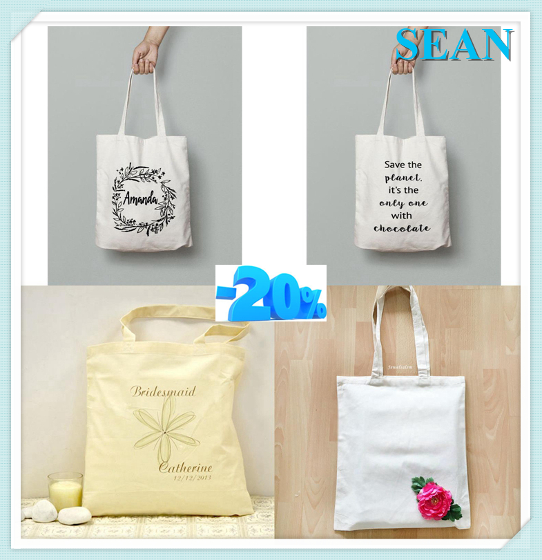 Oem Production Shopping Bag Cotton Tote Bag Custom Blank Cotton Bag