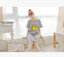 Wholesale Yellow Duck Girls Sexy Night Dress Photos Casual Oem Dress
