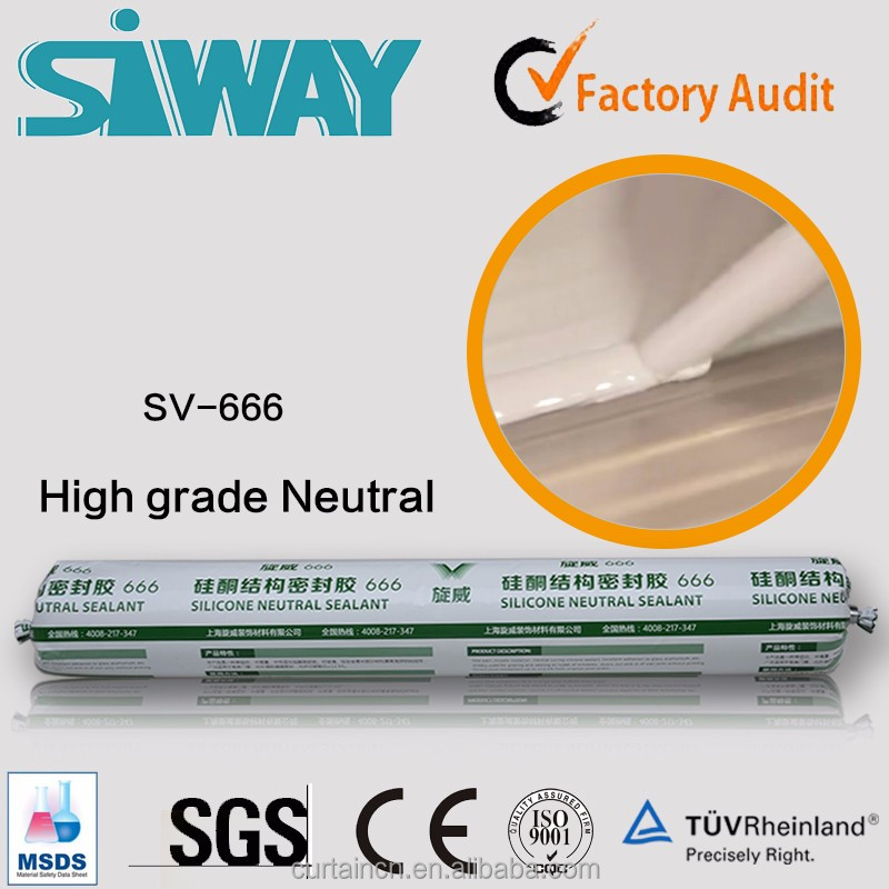 Fast Curing One Part Senior Neutral Silicone Sealant for Seam Sealing