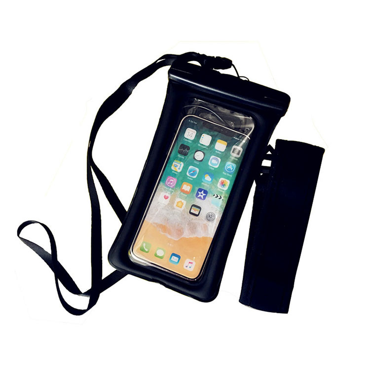 Free Sample New Design Dustproof And Shockproof Tpu waterproof <strong>phone</strong> bag Pouch Hand Case With Armband With Headphone Jack