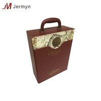 Custom new design hot sale portable PU leather wine gift box