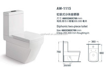 New Design Types Two Piece Water Closet WC Toilet Bowl