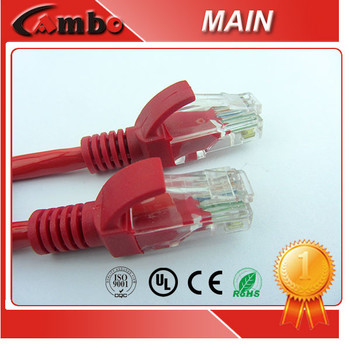 Free Samples 75 Degree PVC Jacket patch cord 99.99% Copper Conductor Used in Structured Cabling