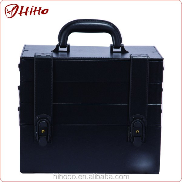 Personalized Black Organizer Train Case Nail Polish Box