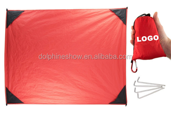 Best Quality Kids Baby Sandless Beach Mat Blanket With LOGO Compact Outdoor Parachute Nylon Waterproof Picnic Mat