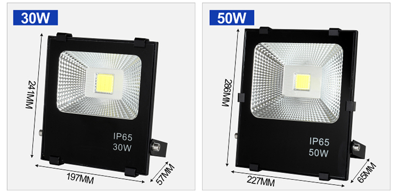 High lumen Bridgelux COB IP65 Waterproof outdoor 100w 150w 200w 300w led flood light price