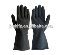 Hot sales black industrial rubber working gloves cheapest gloves made in china