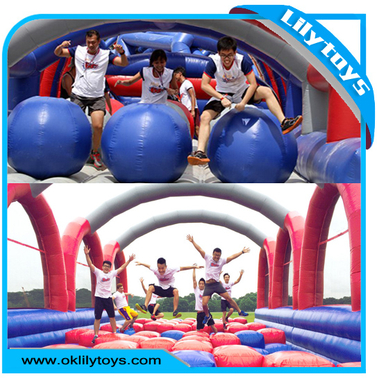 The Extreme Insane inflatable 5 run,Giant Inflatable Obstacle Course for Adults