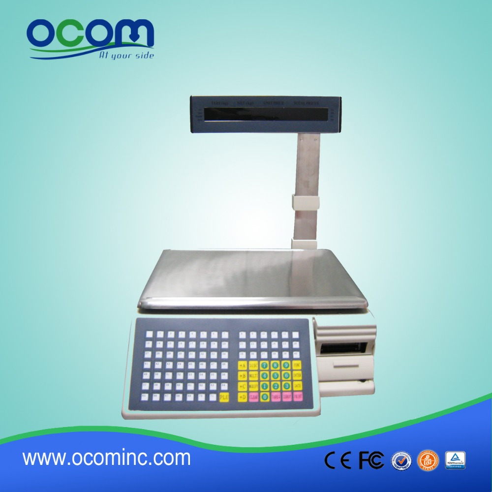 TM-AA-5D Barcode Label Printing Manual Weighing Scales with Printer